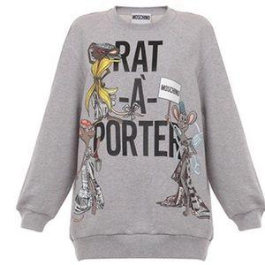 NEW Moschino Rat-A-Porter sweatshirt